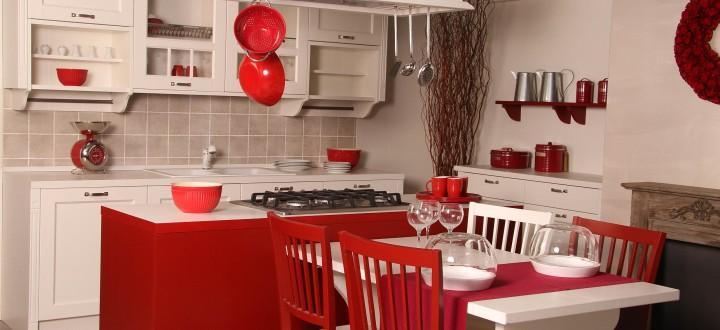 Gretha c c cucine cucine arredamentic c cucine for Sedie rosse cucina
